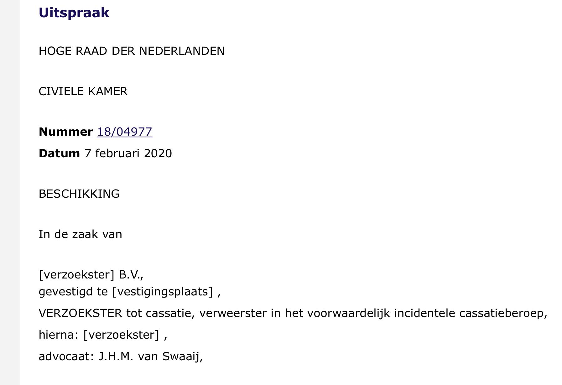 J.H.M. van Swaaij - - van Swaaij Cassastie & Consultancy - cassatieadvocaat - cassatie advocaat