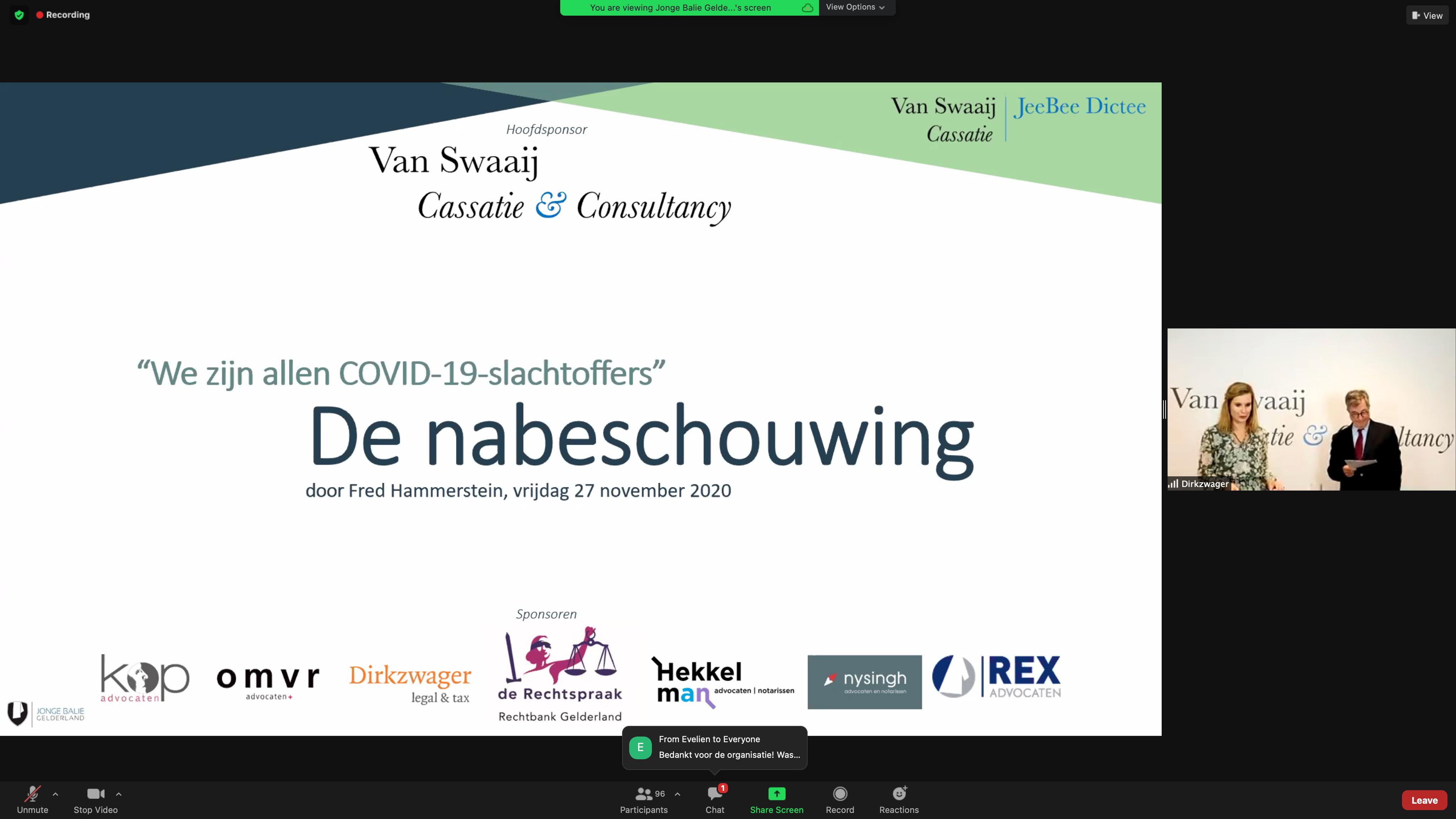 Nabeschouwing - - van Swaaij Cassastie & Consultancy - cassatieadvocaat - cassatie advocaat