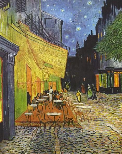 Van Gogh, Caféterras bij avond (GNU licentie)