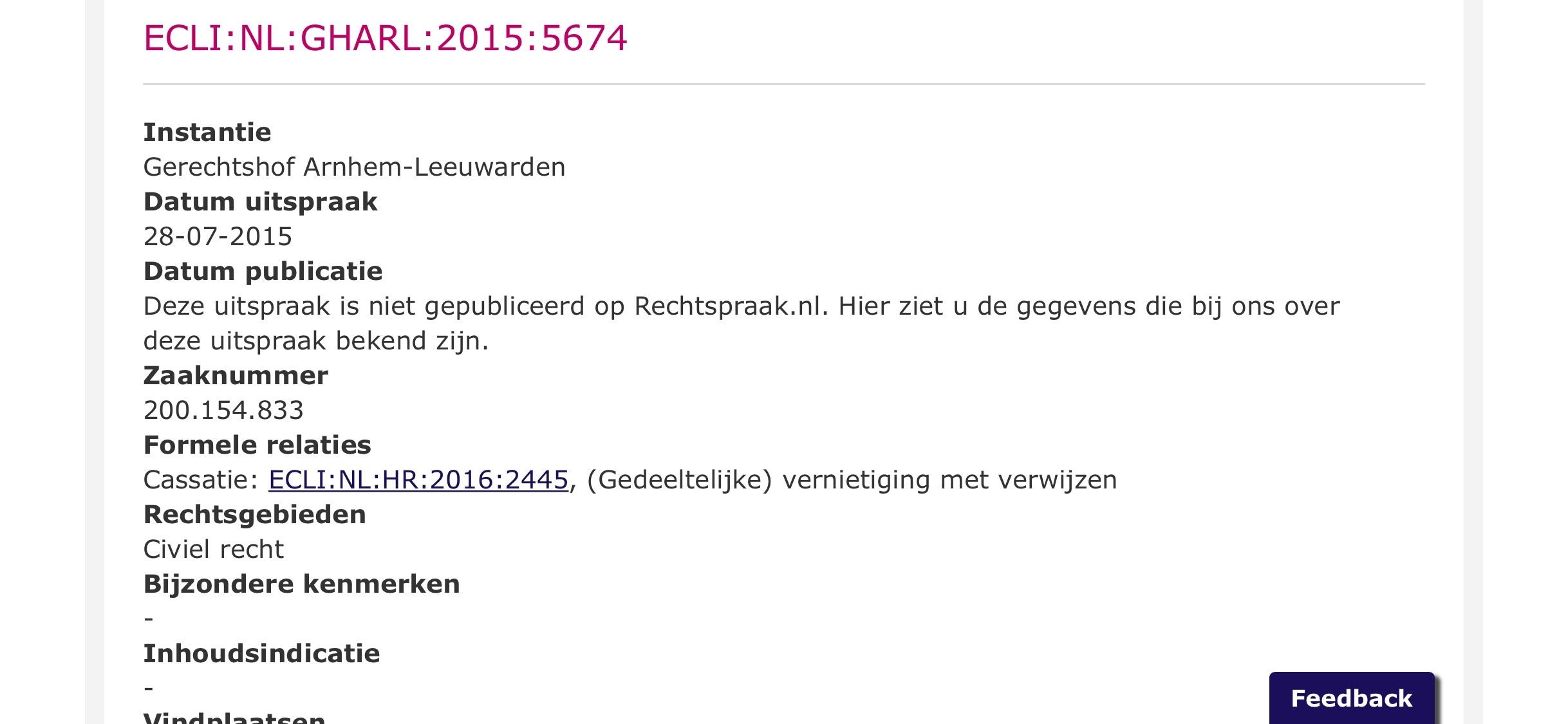 Schermfoto.rechtspraak.nl - - van Swaaij Cassastie & Consultancy - cassatieadvocaat - cassatie advocaat