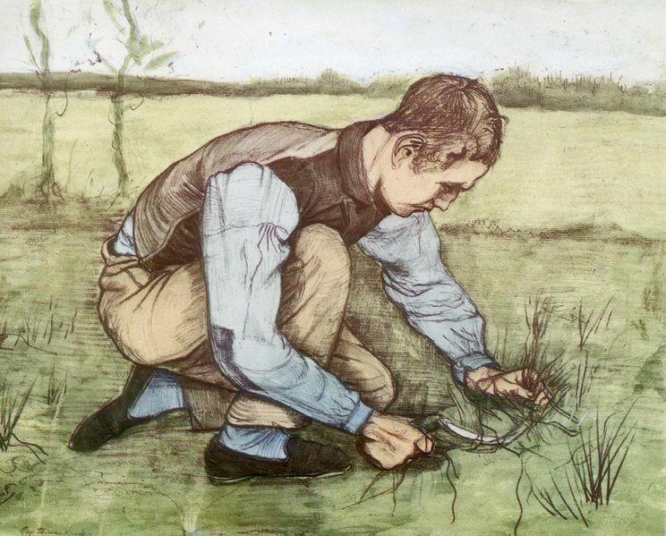 Van Gogh.Grassnijnder