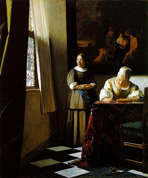 Vermeer.schrijvende vrouw