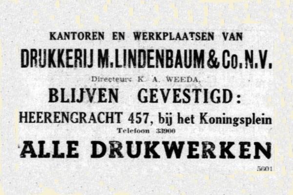 Drukkerij M. Lindenbaum