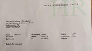 foto.Brief.HR - Ook bij Hoge Raad geen rolzittingen meer - van Swaaij Cassastie & Consultancy - cassatieadvocaat - cassatie advocaat