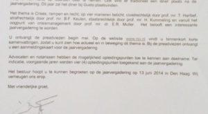 foto.BriefvanYbo - Crises, rampen en recht: brief van prof. mr. Y. Buruma en jaarvergadering NJV   - van Swaaij Cassastie & Consultancy - cassatieadvocaat - cassatie advocaat